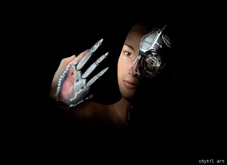 robot digital painting